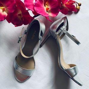 Aldo High Heel Stiletto Sandals - Silver